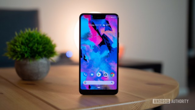 The front of the Google Pixel 3XL.