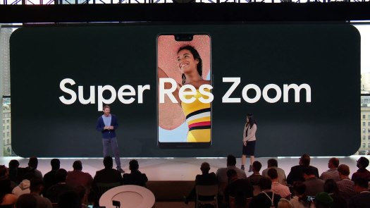 The Super Res Zoom feature on the Google Pixel 3.