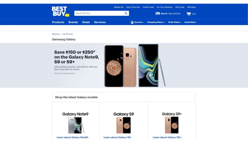 Best Buy Samsung Galaxy offer