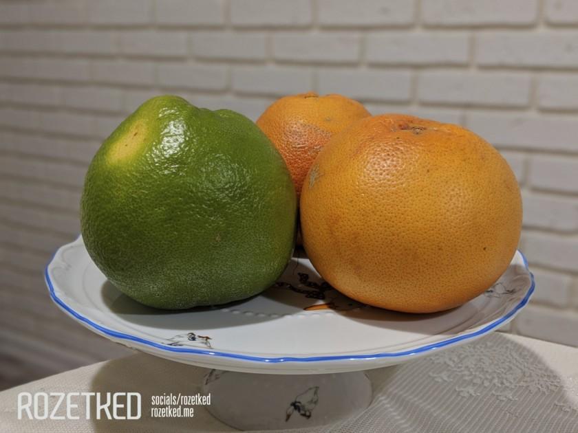 Exemple de photo Google Pixel 3 Lite d'un bol avec des oranges dans des conditions d'éclairage défavorables