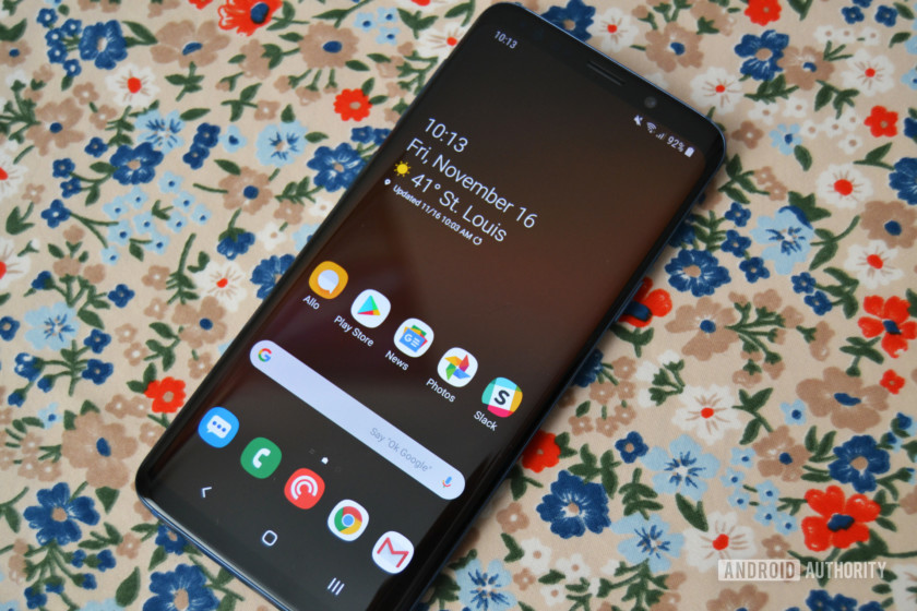 samsung galaxy s9 one ui review home screen display
