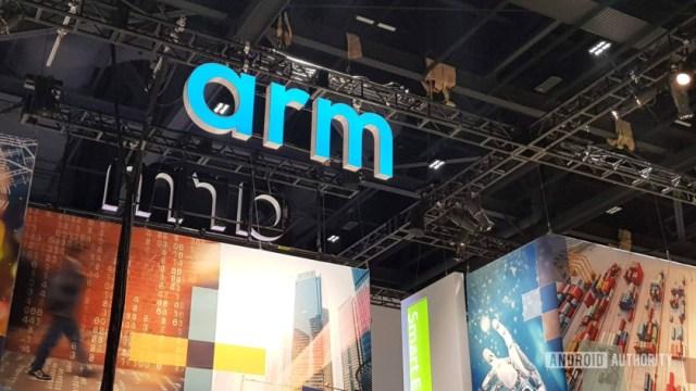 The Arm logo at Arm TechCon 2018.