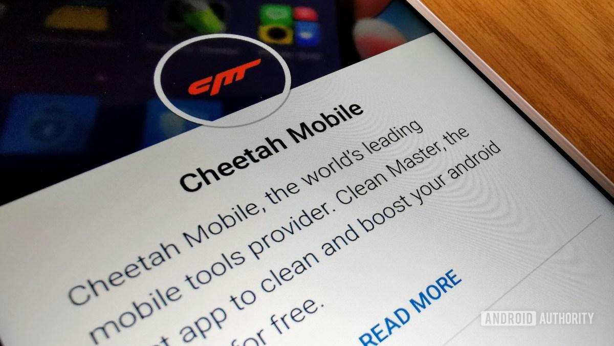 A página da Cheetah Mobile Play Store.