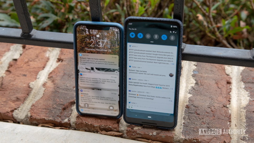 iOS vs Android Notifications