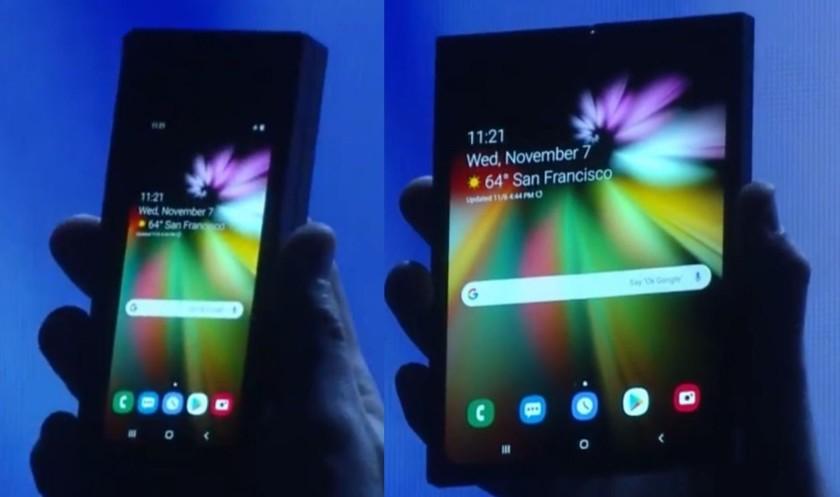 The Samsung foldable phone.