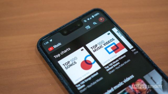 YouTube Music Logo in App