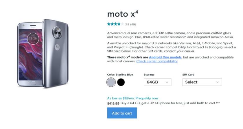 The Moto X4.