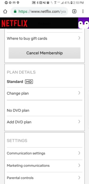 Скриншот Netflix 3 с разными планами и деталями планов