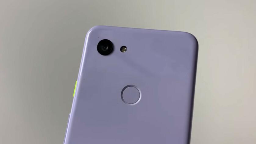 L'arrière du Google Pixel 3 Lite.