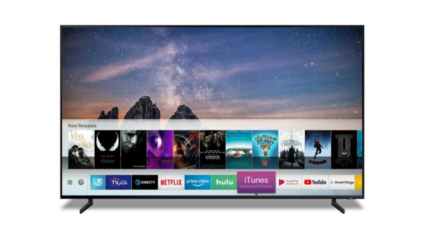 Samsung Smart TV avec prise en charge possible d'Apple TV plus.