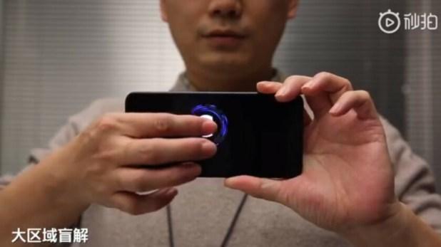 A new-generation in-display fingerprint sensor on a Xiaomi phone.