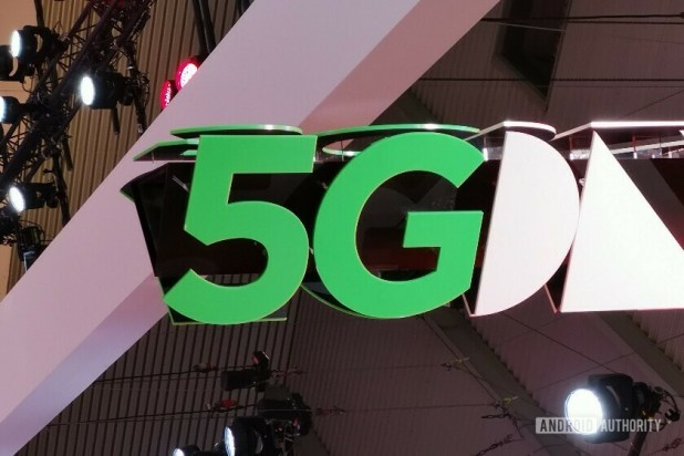Green 5G logo taken at MWC 2019