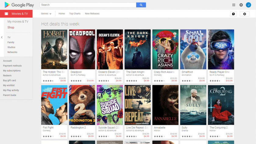 Google Play Movies Deal
