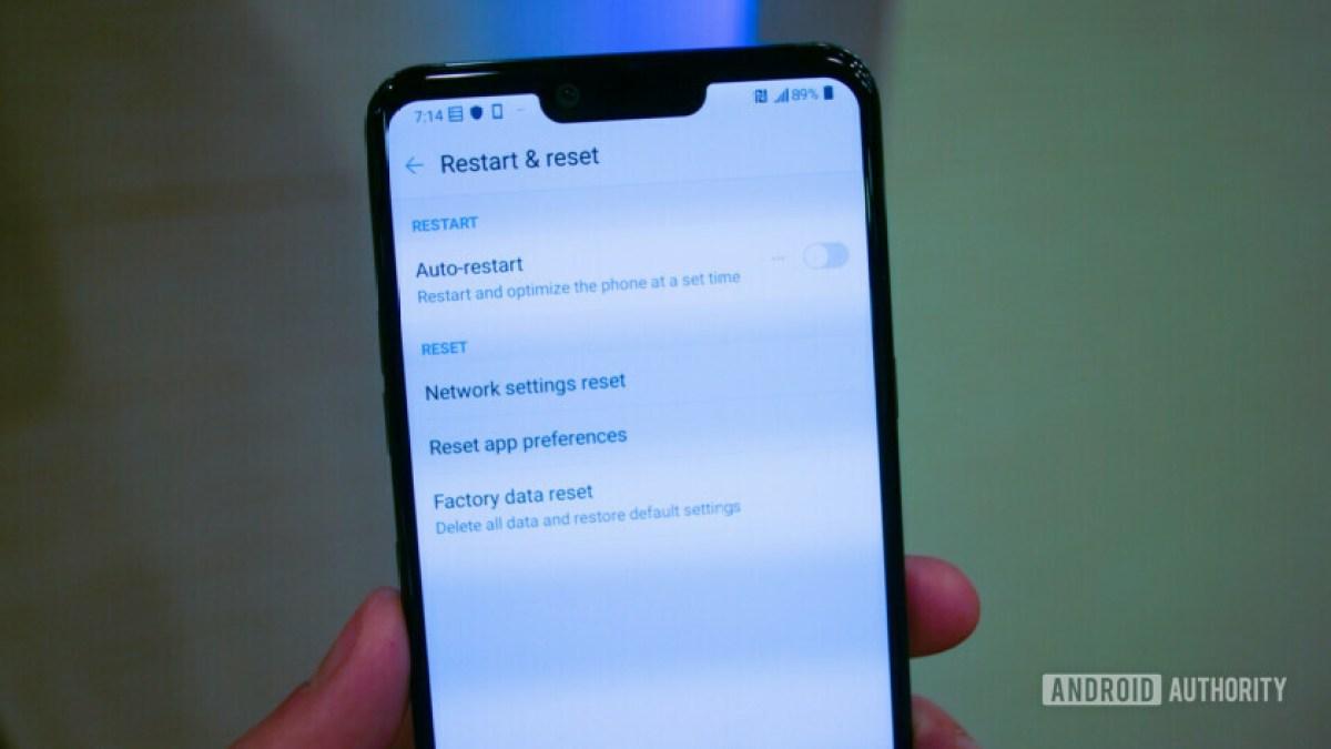 Перезагрузите телефон Android, если Wi-Fi не работает