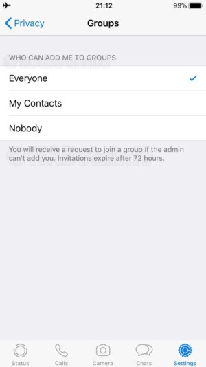 WhatsApp group invitation system.
