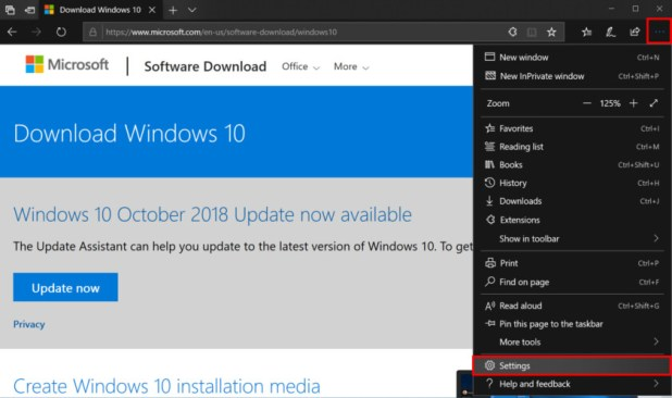 Microsoft Edge browser Settings - How to enable dark mode in Windows 10