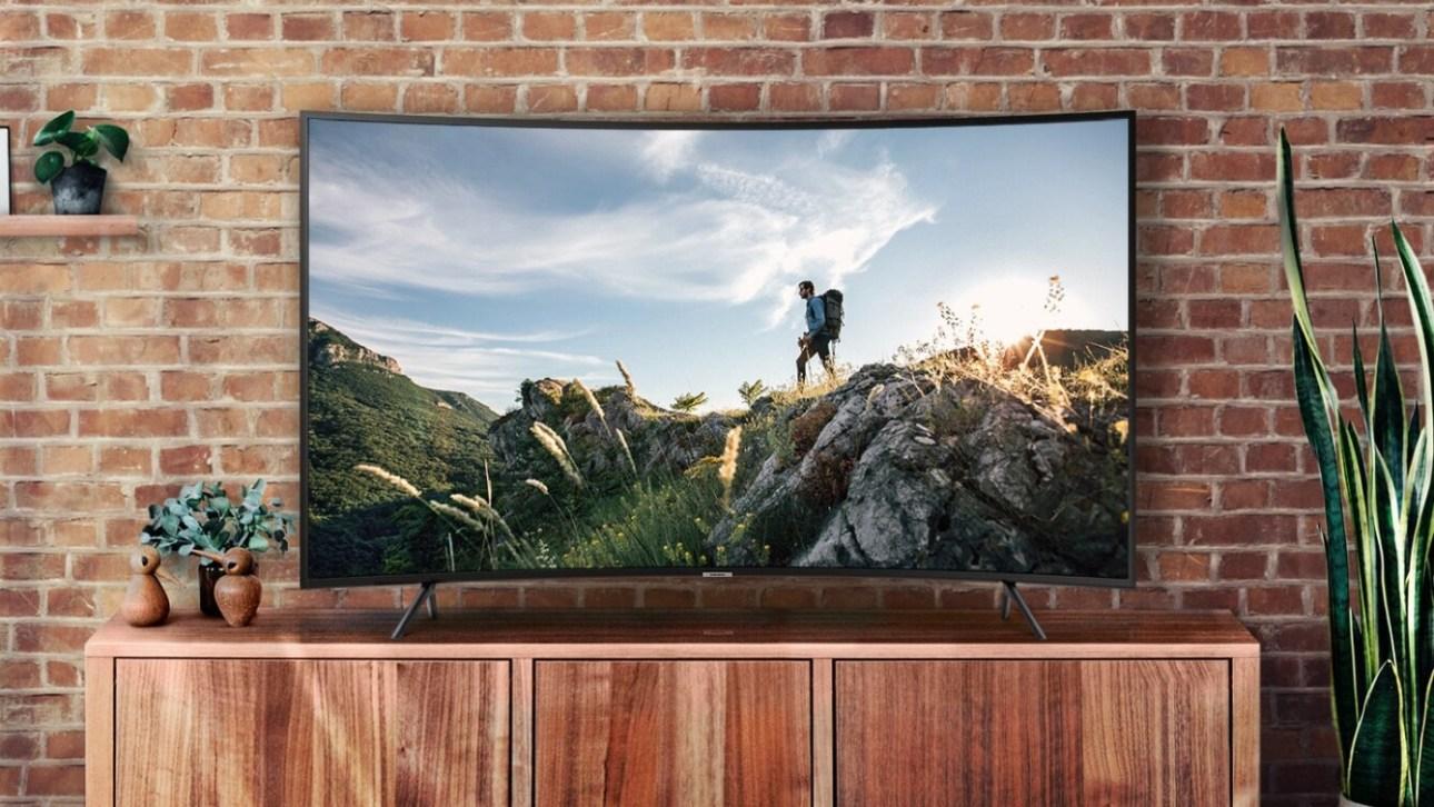 Samsung 55 UHD 4K изогнутый Smart TV NU7300