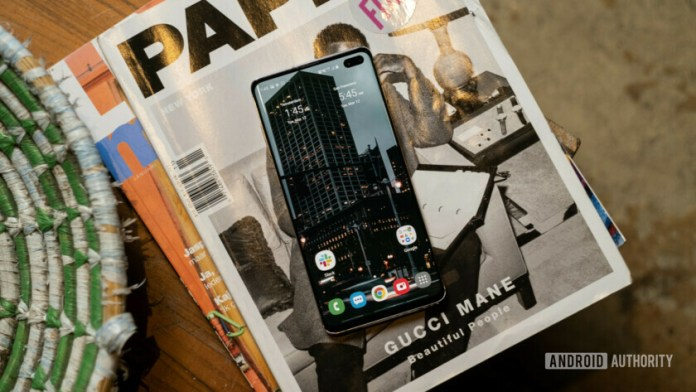Samsung Galaxy S10 Plus Home screen