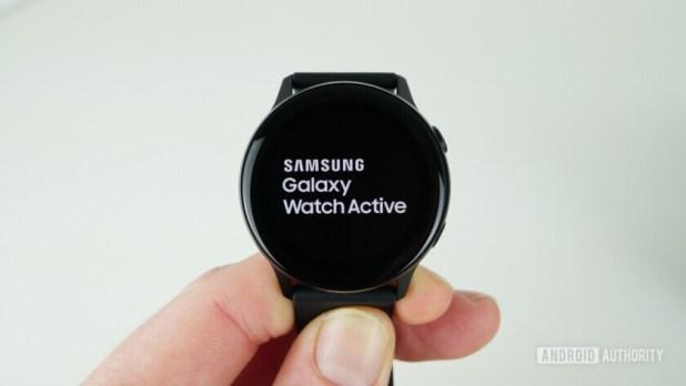 Samsung Galaxy Watch Active boot screen