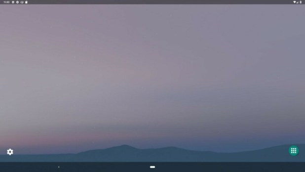 Android Q's desktop mode on a monitor display.