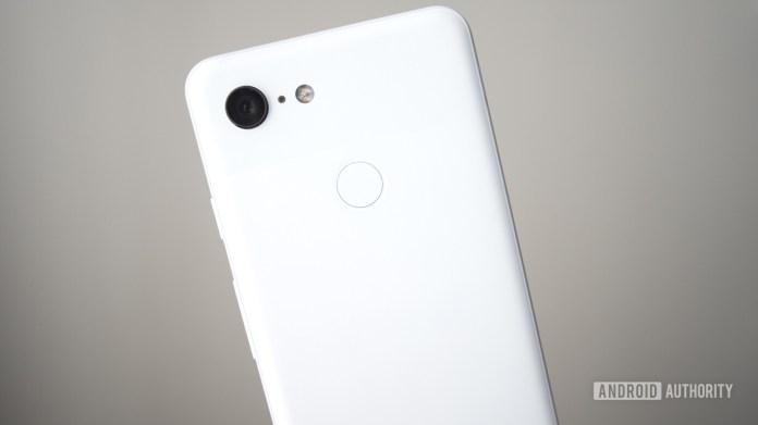 Pixel 3 back clearly white camera fingerprint sensor