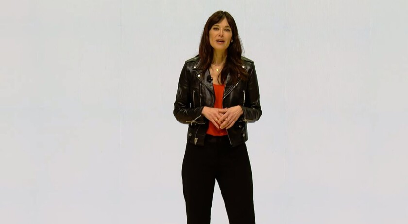 Jade Raymond, the head of Google's new first party gaming studio announcing the Google Stadia