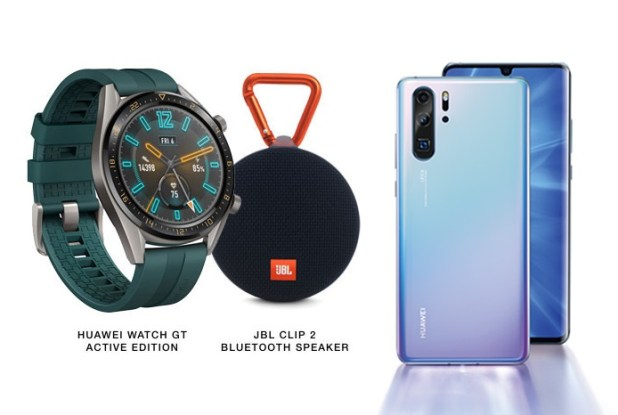 Huawei P30 and Huawei Watch GT Active leaked renders.