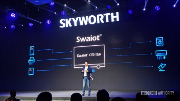 The Skyworth TV launch event.