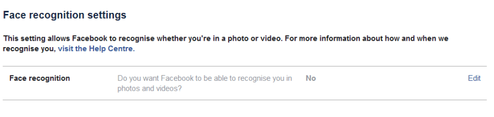 Распознавание лиц Настройка конфиденциальности Facebook
