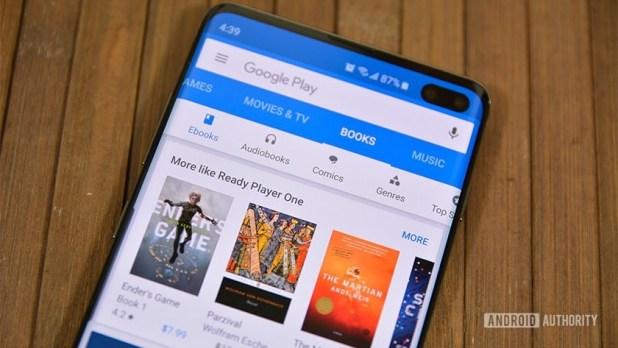 Google Play Books as seen on a Samsung Galaxy S10 Plus.