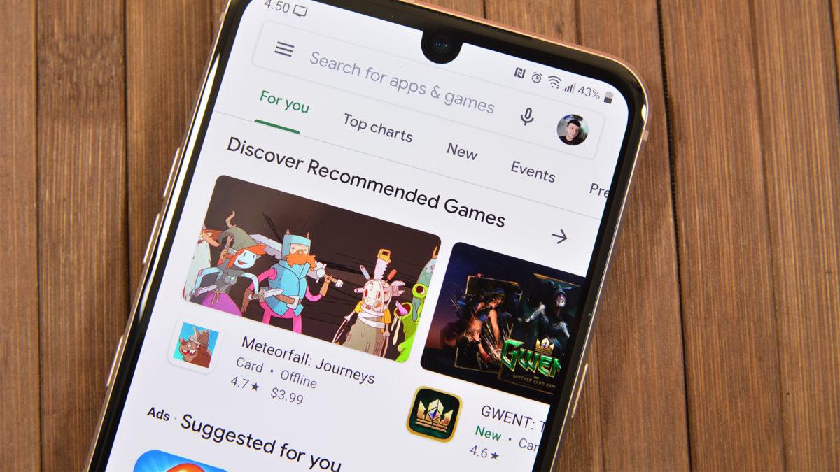 Página inicial da Google Play Store - melhores aplicativos Android