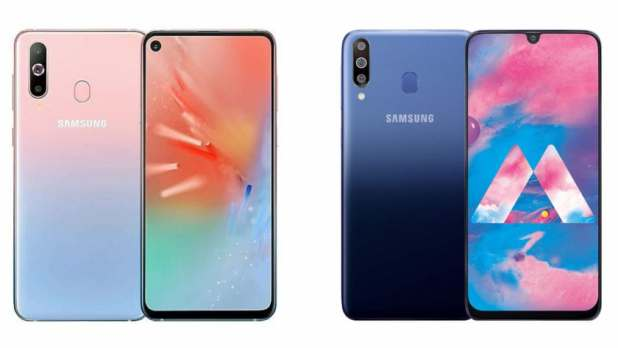 Press renders of the Samsung Galaxy A40s and A60.