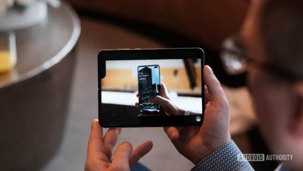 Samsung Galaxy Fold watching YouTube 1