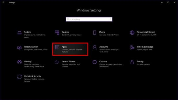 Windows 10 Settings Access Apps - How to uninstall programs on Windows 10