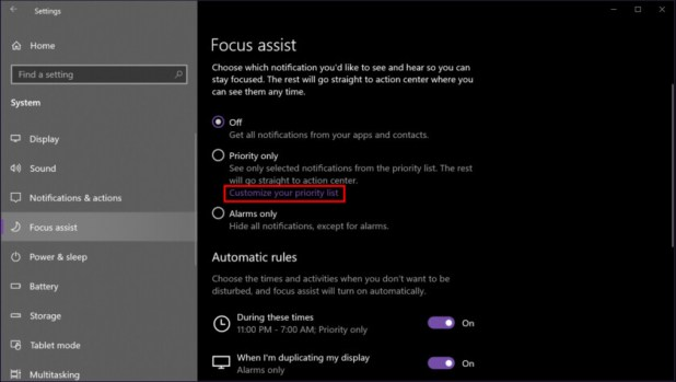 Windows 10 customize priority list - How to use notifications in Windows 10