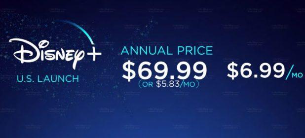 Disney plus price