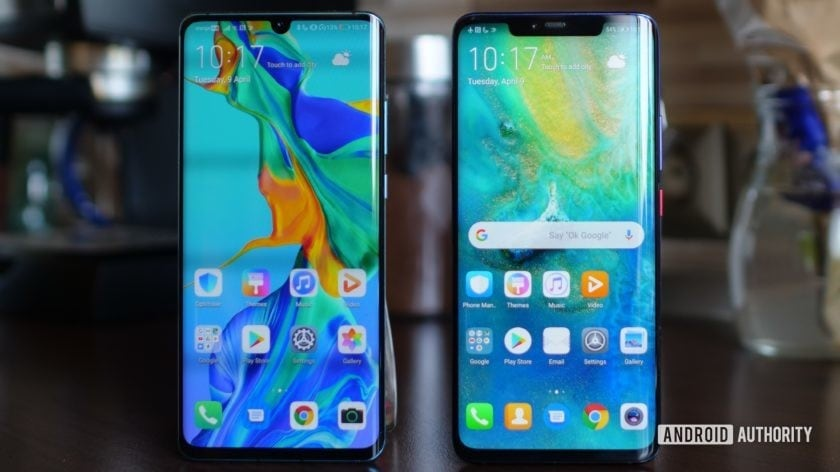huawei p30 pro vs huawei mate 20 pro side by side displays