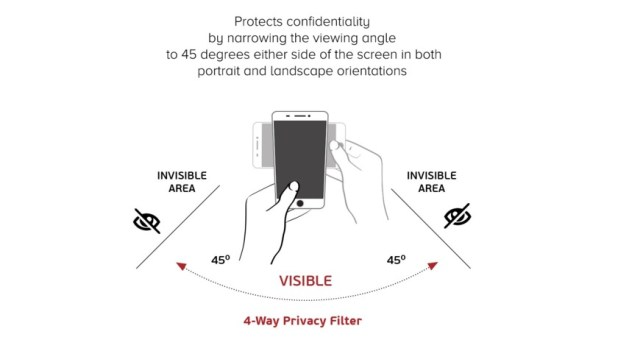 viewing angles with 4-way privacy screen protector - privacy screen protectors