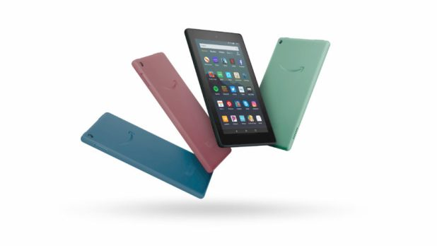 Press render of the Amazon Fire 7 (2019) tablet.