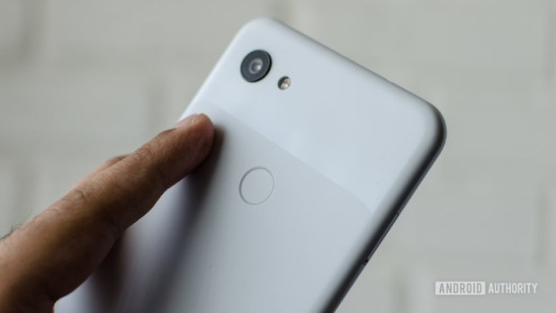 Google Pixel 3a XL fingerprint scanner