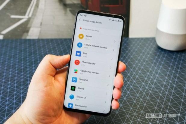Meizu 16s battery usage view