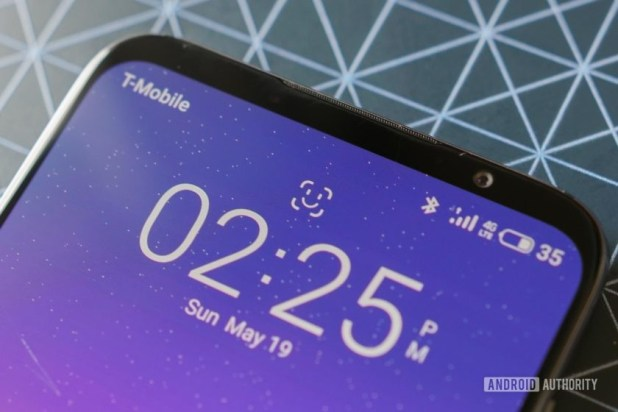 Meizu 16s face unlock icon