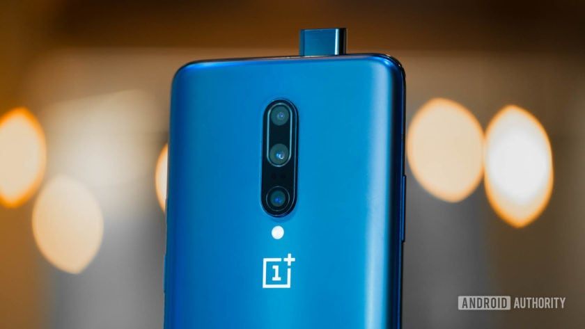 OnePlus 7 Pro back with selfie camera open