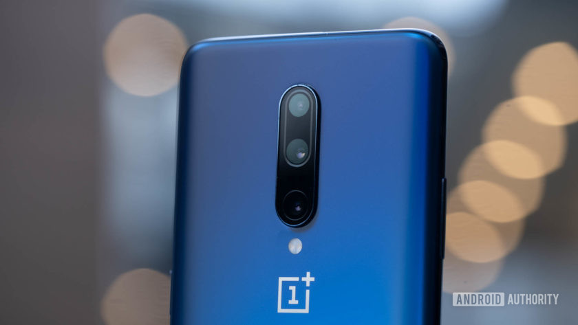 OnePlus 7 Pro rear cameras at angle 2