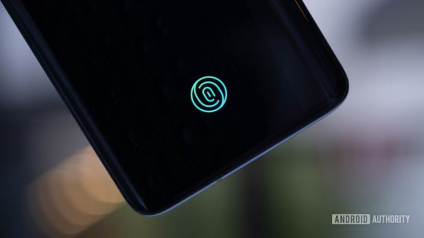 OnePlus 7 Pro optical fingerprint reader
