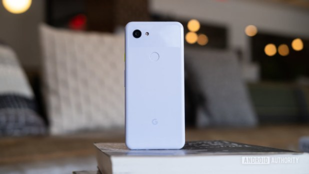 Pixel 3a standing up on table
