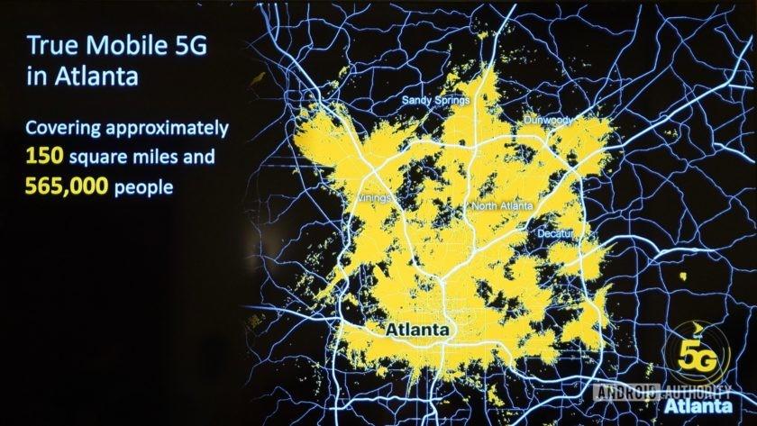 Sprint 5G Launch Atlanta coverage