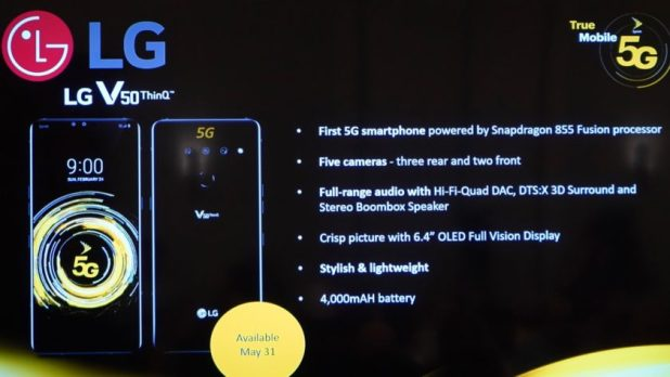 Sprint 5G Launch LG V50 ThinQ