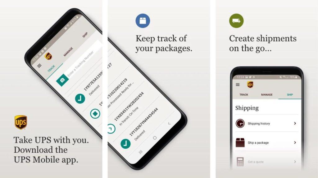 Снимок экрана UPS Mobile 2020