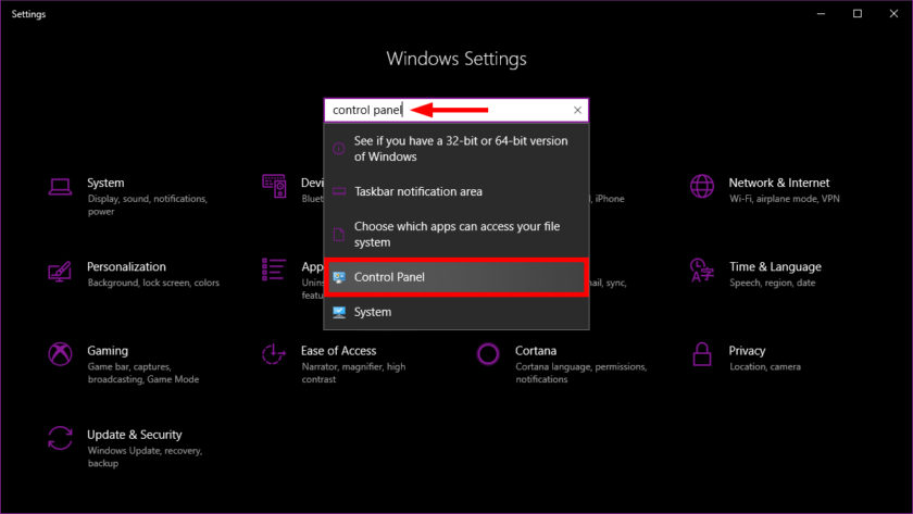 Windows 10 Control Panel Settings - How to find Control Panel in Windows 10